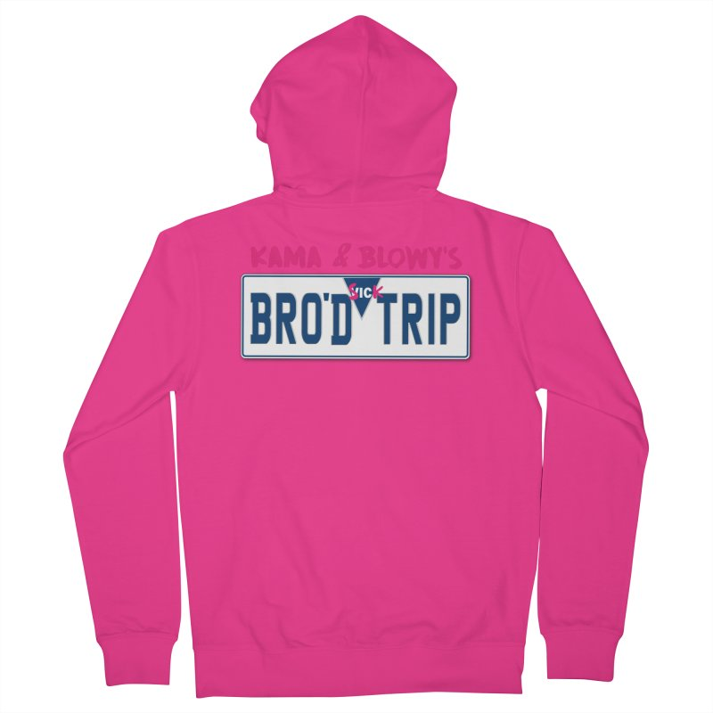 BRO'D TRIP Men's French Terry Zip-Up Hoody by Westofoxley's Artist Shop