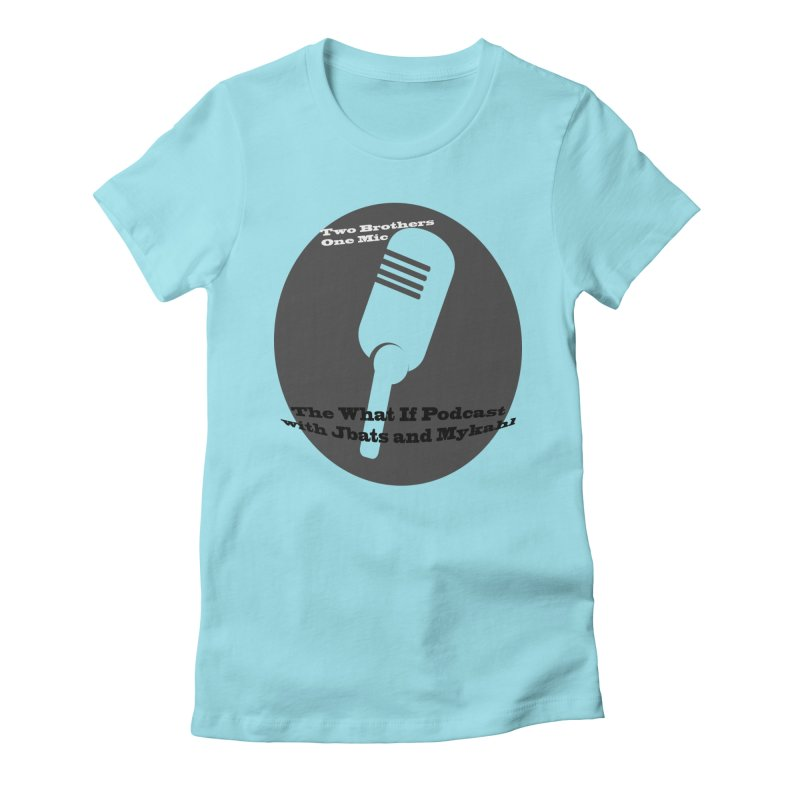 two brothers Women's Fitted T-Shirt by Whatifpod's Artist Shop