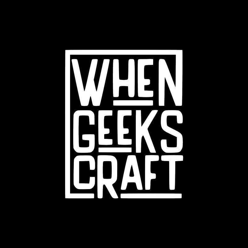 When Geeks Craft - White Men's V-Neck by WhenGeeksCraft's Artist Shop