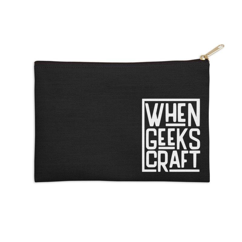When Geeks Craft - White Accessories Zip Pouch by WhenGeeksCraft's Artist Shop