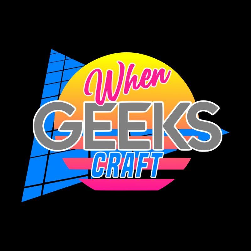 Retro When Geeks Craft Men's V-Neck by WhenGeeksCraft's Artist Shop