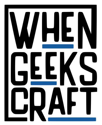 WhenGeeksCraft's Artist Shop Logo