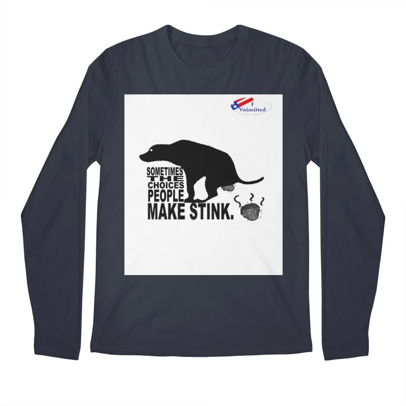 Dump Trump Men's Regular Longsleeve T-Shirt by Whereisyourmustache's Artist Shop