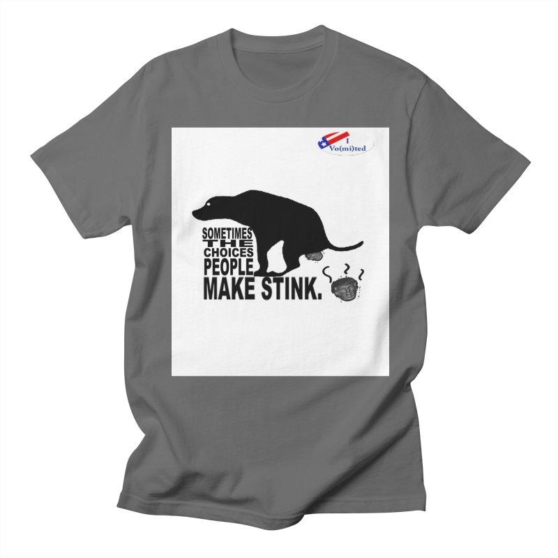 Dump Trump Women's Regular Unisex T-Shirt by Whereisyourmustache's Artist Shop