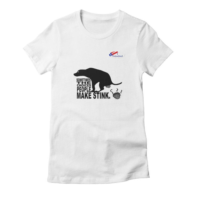 Dump Trump Women's Fitted T-Shirt by Whereisyourmustache's Artist Shop