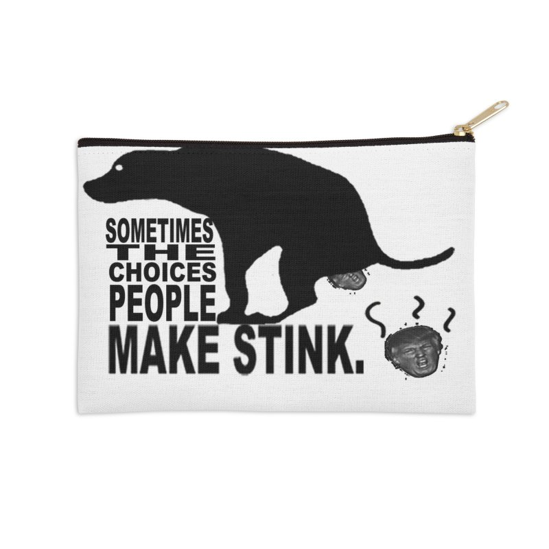 Dump Trump Accessories Zip Pouch by Whereisyourmustache's Artist Shop