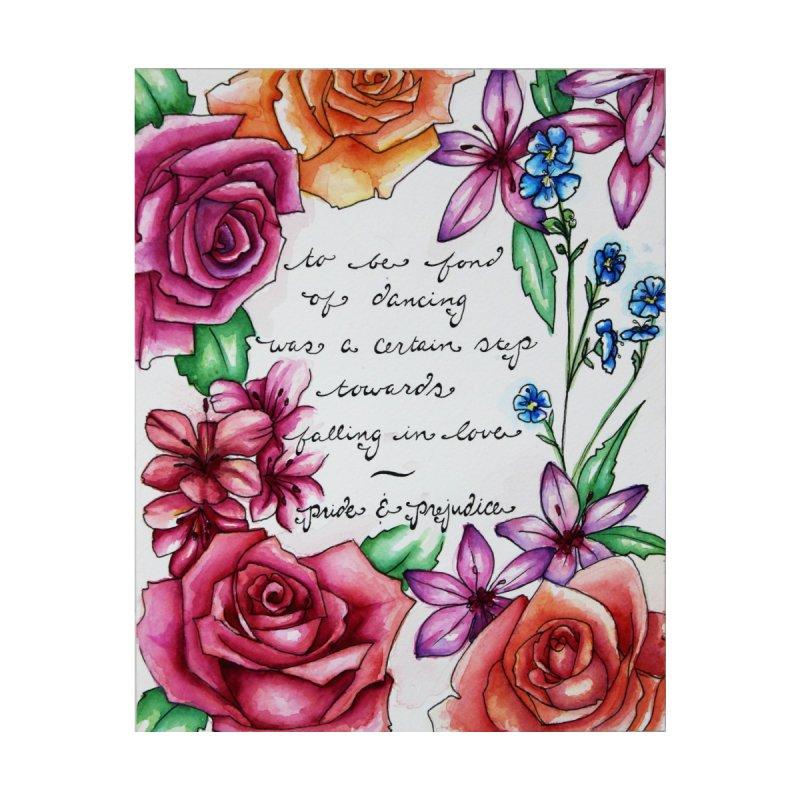 Whimsybleu Jane Austen Quote Floral Border