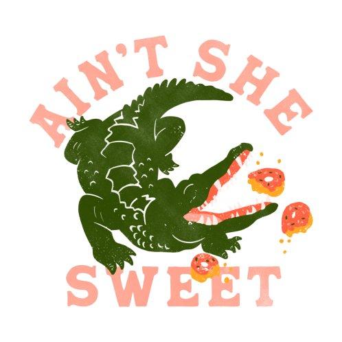 Design for Ain't She Sweet Gator Eating Donuts Design