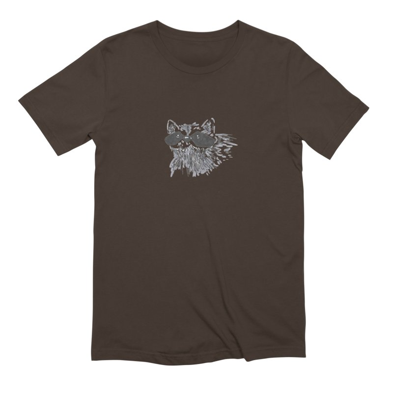 Cute Raccoon Hand-drawn Men's Extra Soft T-Shirt by The Wilderness Store