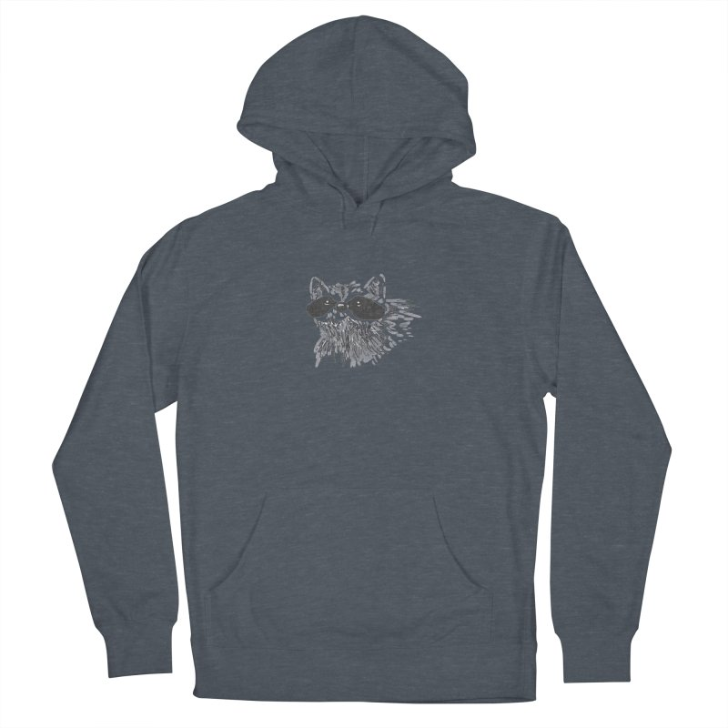 Cute Raccoon Hand-drawn Men's French Terry Pullover Hoody by The Wilderness Store