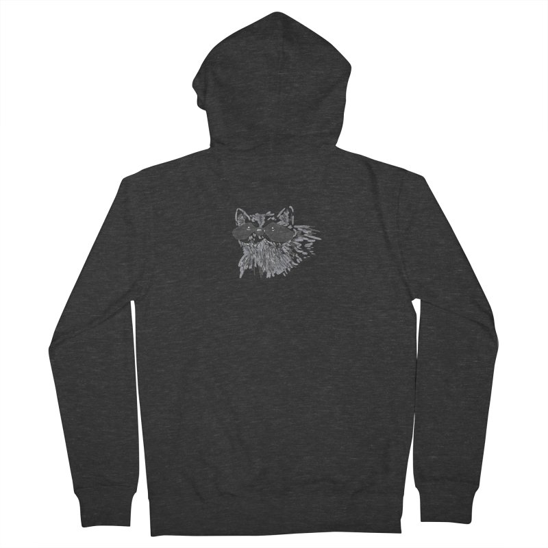 Cute Raccoon Hand-drawn Women's French Terry Zip-Up Hoody by The Wilderness Store