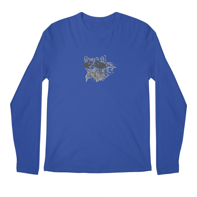 Cute Raccoon Hand-drawn Men's Regular Longsleeve T-Shirt by The Wilderness Store