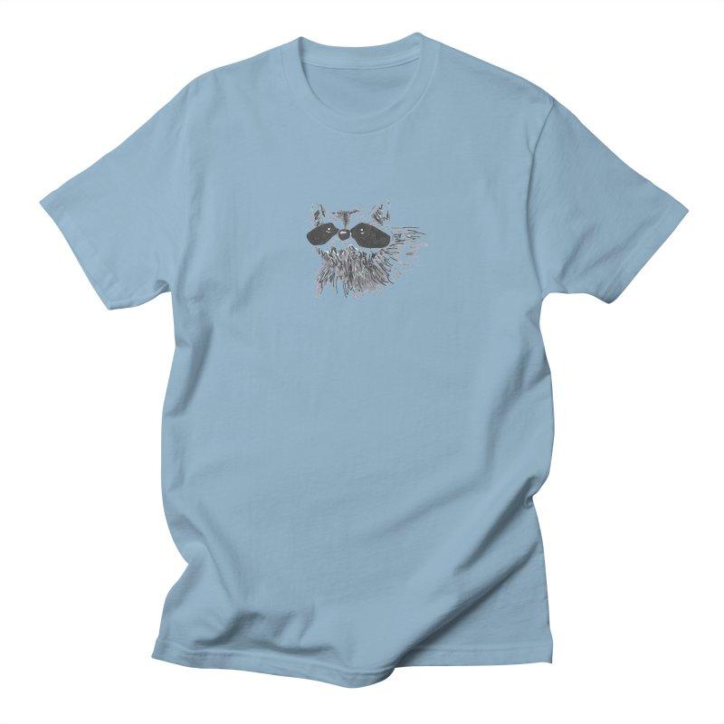 Cute Raccoon Hand-drawn Women's Regular Unisex T-Shirt by The Wilderness Store