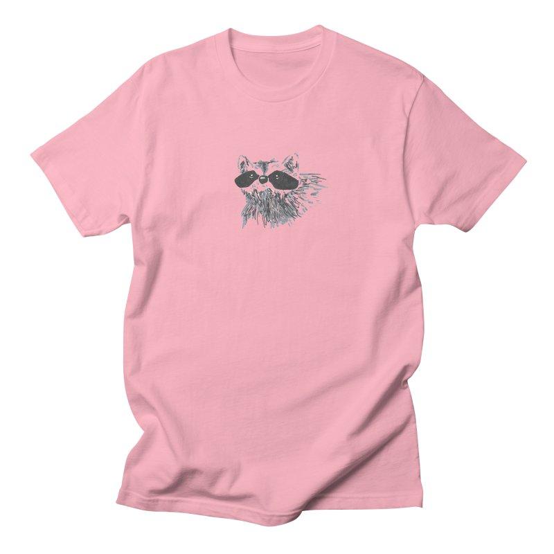 Cute Raccoon Hand-drawn Men's Regular T-Shirt by The Wilderness Store
