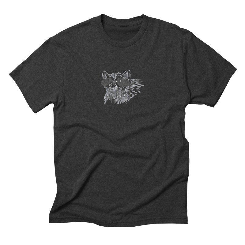 Cute Raccoon Hand-drawn Men's Triblend T-Shirt by The Wilderness Store