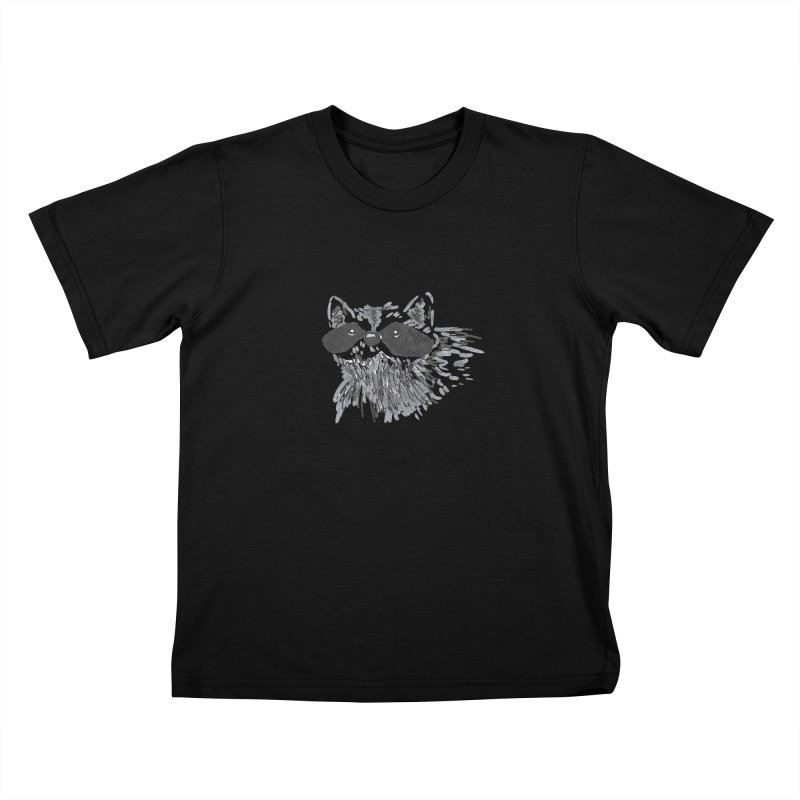 Cute Raccoon Hand-drawn Kids T-Shirt by The Wilderness Store