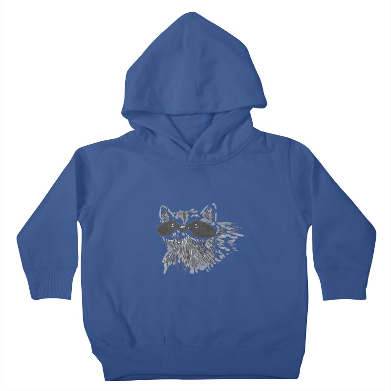 Cute Raccoon Hand-drawn Kids Toddler Pullover Hoody by The Wilderness Store