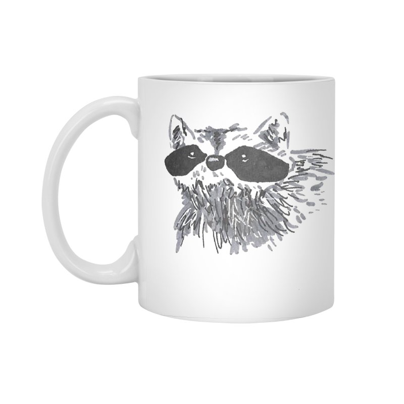 Cute Raccoon Hand-drawn Accessories Standard Mug by The Wilderness Store