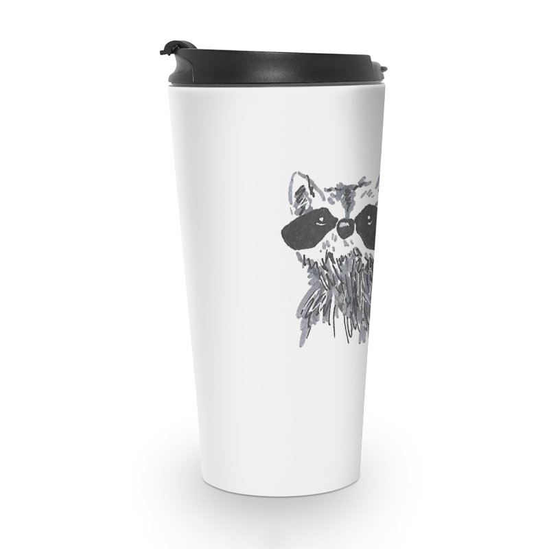 Cute Raccoon Hand-drawn Accessories Travel Mug by The Wilderness Store