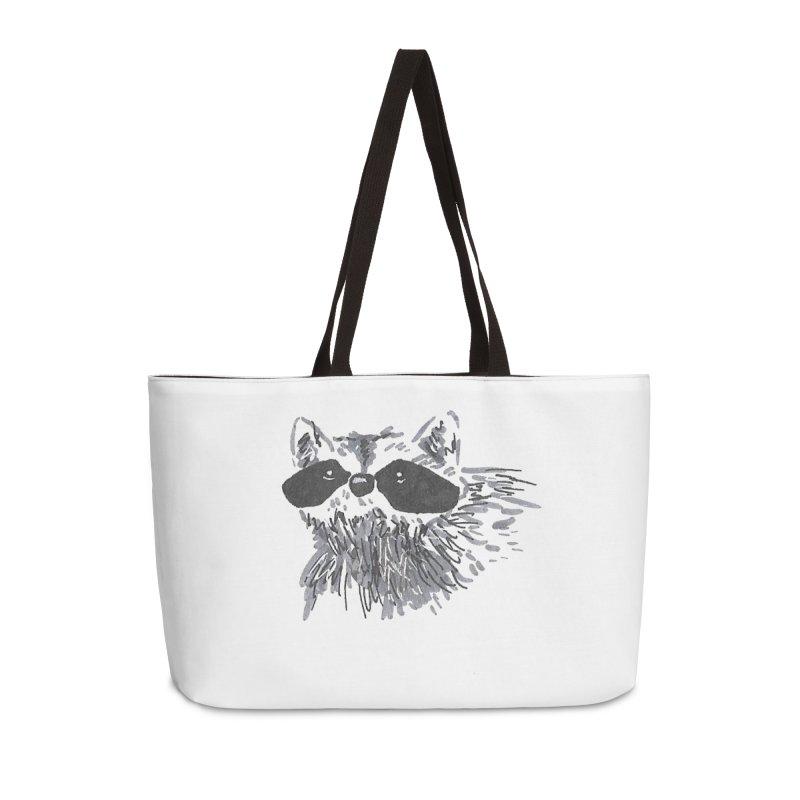 Cute Raccoon Hand-drawn Accessories Weekender Bag Bag by The Wilderness Store
