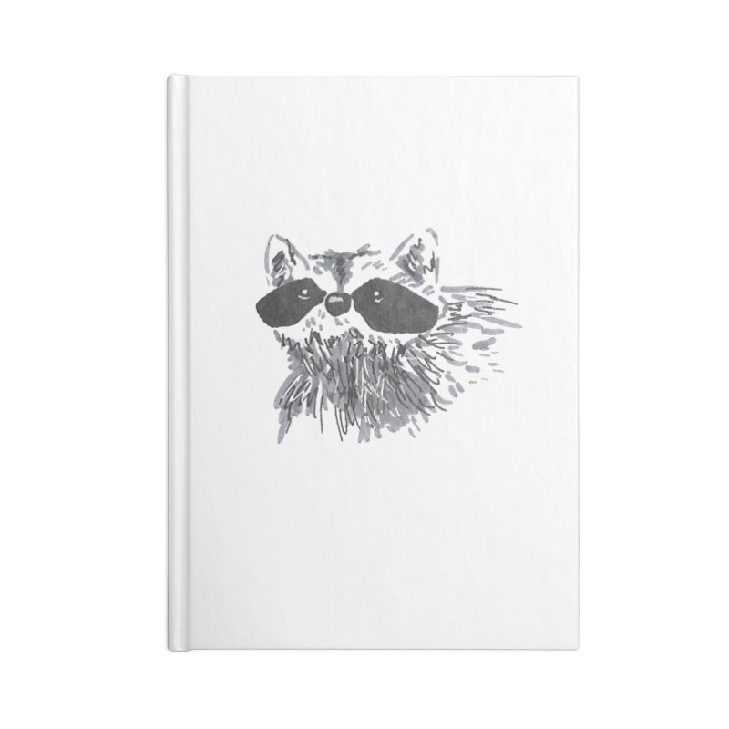 Cute Raccoon Hand-drawn Accessories Lined Journal Notebook by The Wilderness Store