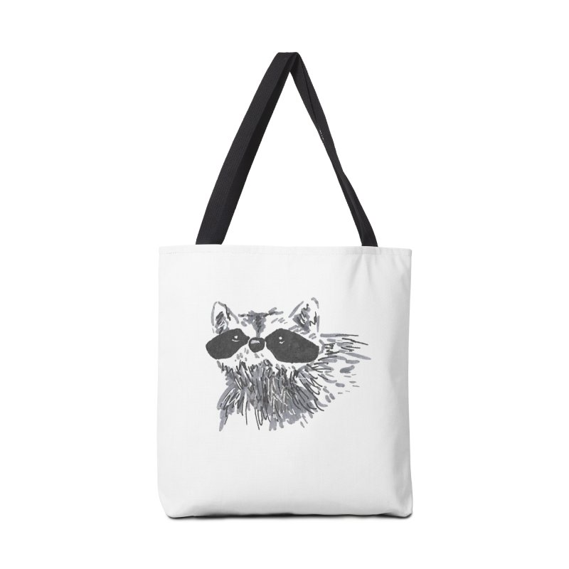 Cute Raccoon Hand-drawn Accessories Tote Bag Bag by The Wilderness Store