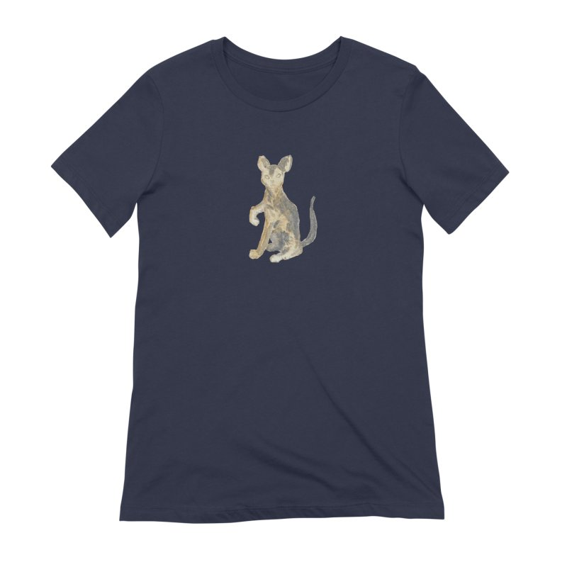 Cat Orange Gray Watercolor Pencils Women's Extra Soft T-Shirt by The Wilderness Store