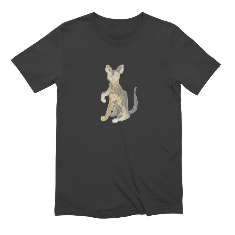 Cat Orange Gray Watercolor Pencils Men's Extra Soft T-Shirt by The Wilderness Store