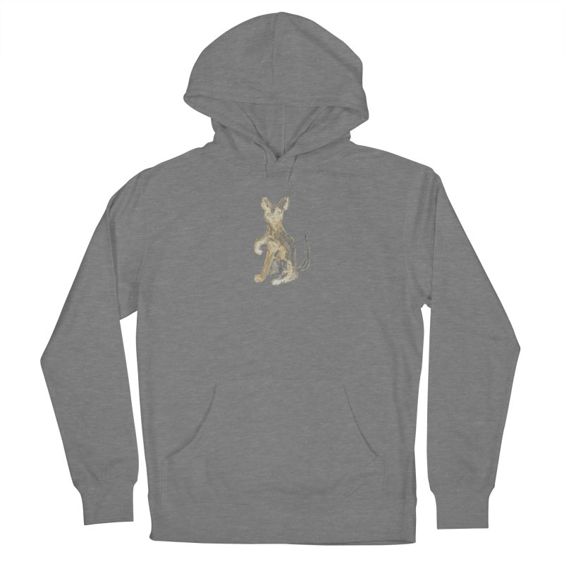 Cat Orange Gray Watercolor Pencils Women's Pullover Hoody by The Wilderness Store