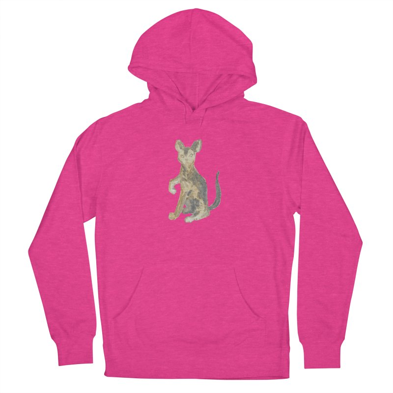 Cat Orange Gray Watercolor Pencils Women's French Terry Pullover Hoody by The Wilderness Store