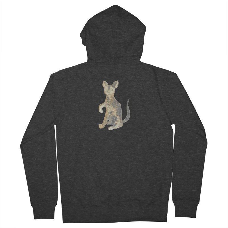 Cat Orange Gray Watercolor Pencils Men's French Terry Zip-Up Hoody by The Wilderness Store