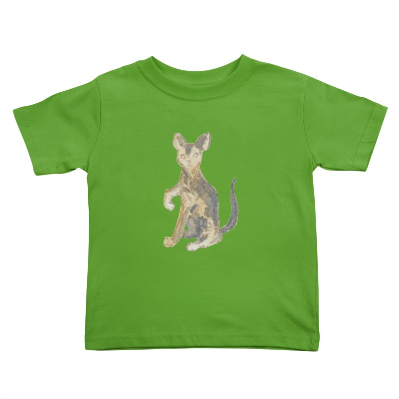 Cat Orange Gray Watercolor Pencils Kids Toddler T-Shirt by The Wilderness Store