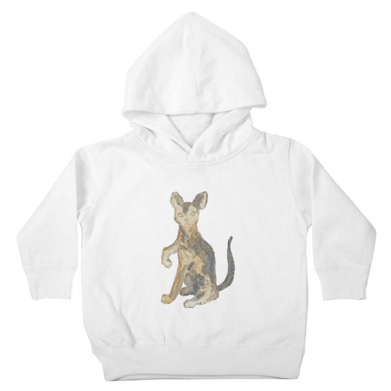 Cat Orange Gray Watercolor Pencils Kids Toddler Pullover Hoody by The Wilderness Store