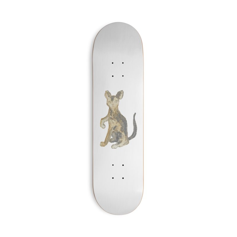 Cat Orange Gray Watercolor Pencils Accessories Deck Only Skateboard by The Wilderness Store