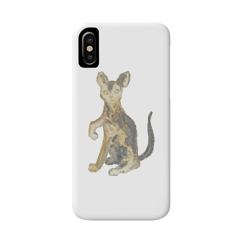 Cat Orange Gray Watercolor Pencils Accessories Phone Case by The Wilderness Store