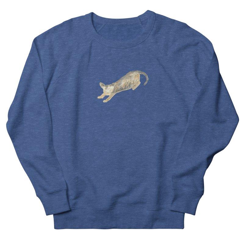 Cat Stretching Orange Grey Sphynx Watercolor Men's Sweatshirt by The Wilderness Store