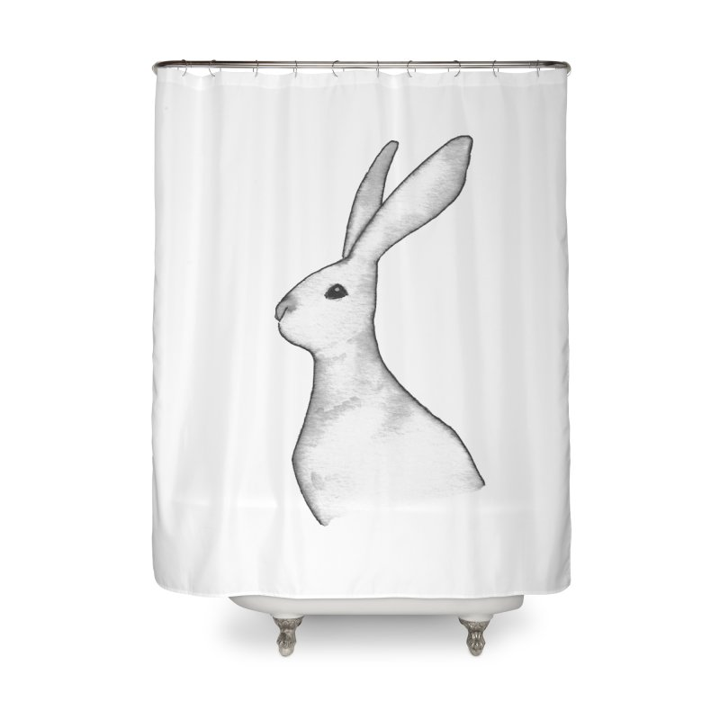 Jackrabbit in Ink Home Shower Curtain by The Wilderness Store
