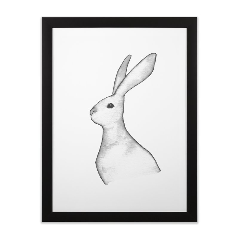Jackrabbit in Ink Home Framed Fine Art Print by The Wilderness Store