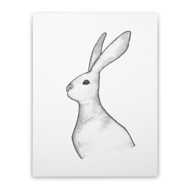 Jackrabbit in Ink Home Stretched Canvas by The Wilderness Store