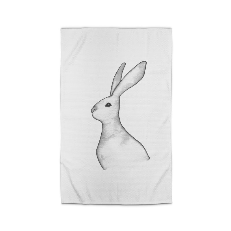 Jackrabbit in Ink Home Rug by The Wilderness Store