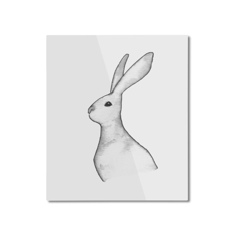 Jackrabbit in Ink Home Mounted Aluminum Print by The Wilderness Store