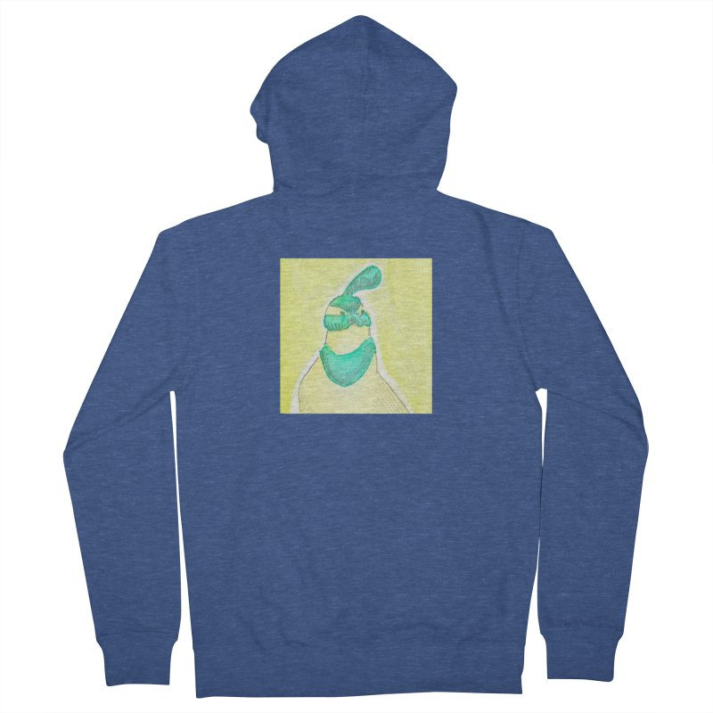 Quail in Blue, Green, Yellow Men's French Terry Zip-Up Hoody by The Wilderness Store