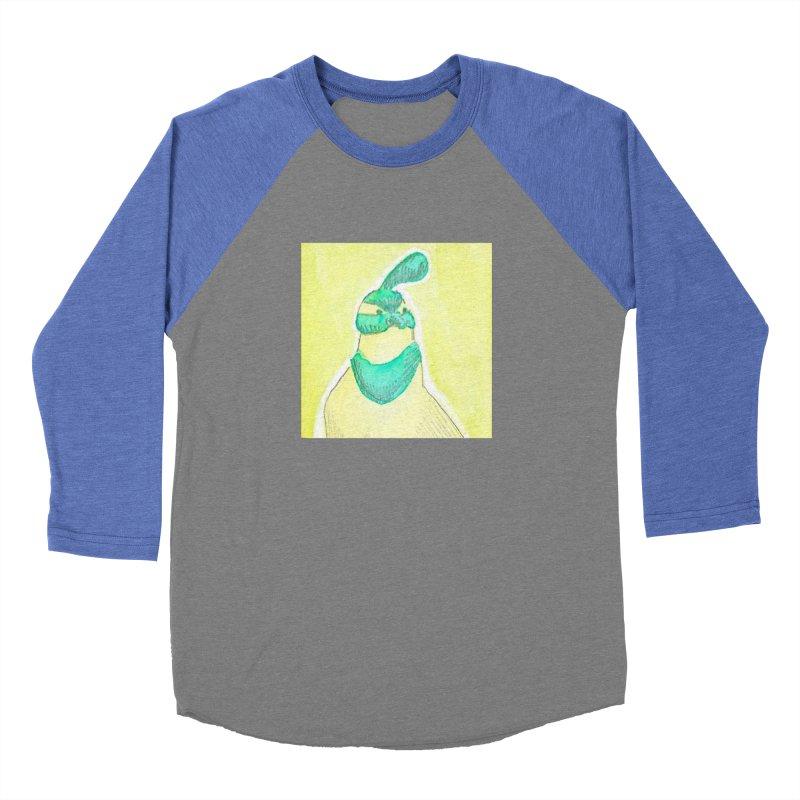Quail in Blue, Green, Yellow Women's Baseball Triblend Longsleeve T-Shirt by The Wilderness Store