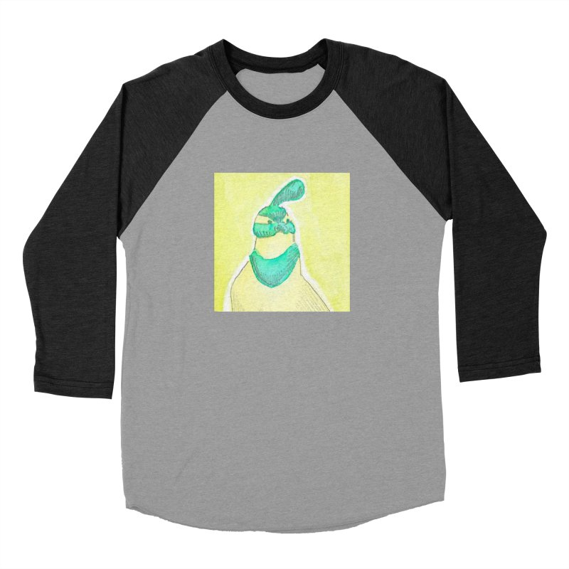 Quail in Blue, Green, Yellow Men's Baseball Triblend Longsleeve T-Shirt by The Wilderness Store