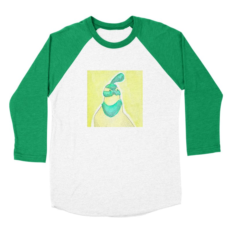 Quail in Blue, Green, Yellow Men's Baseball Triblend Longsleeve T-Shirt by The Wilderness Store