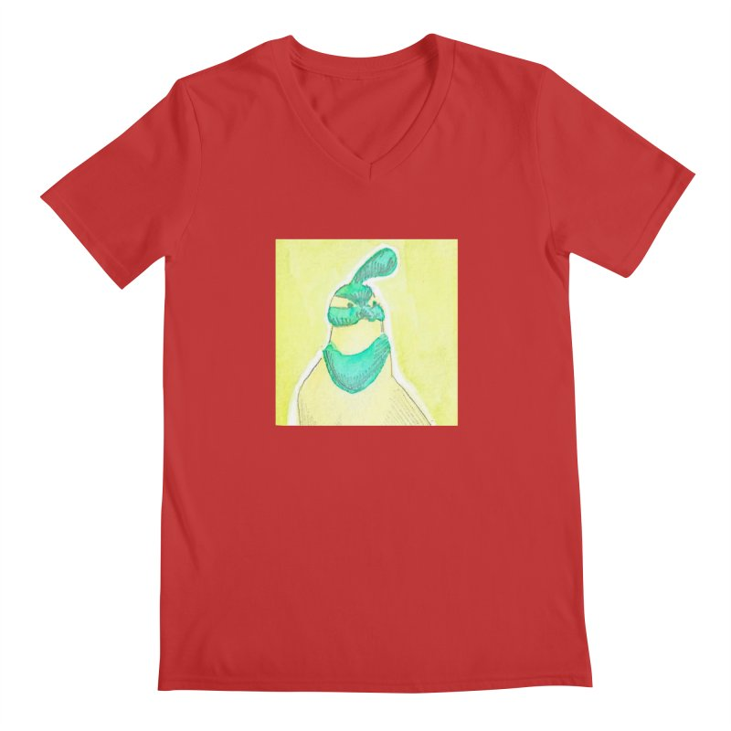 Quail in Blue, Green, Yellow Men's Regular V-Neck by The Wilderness Store