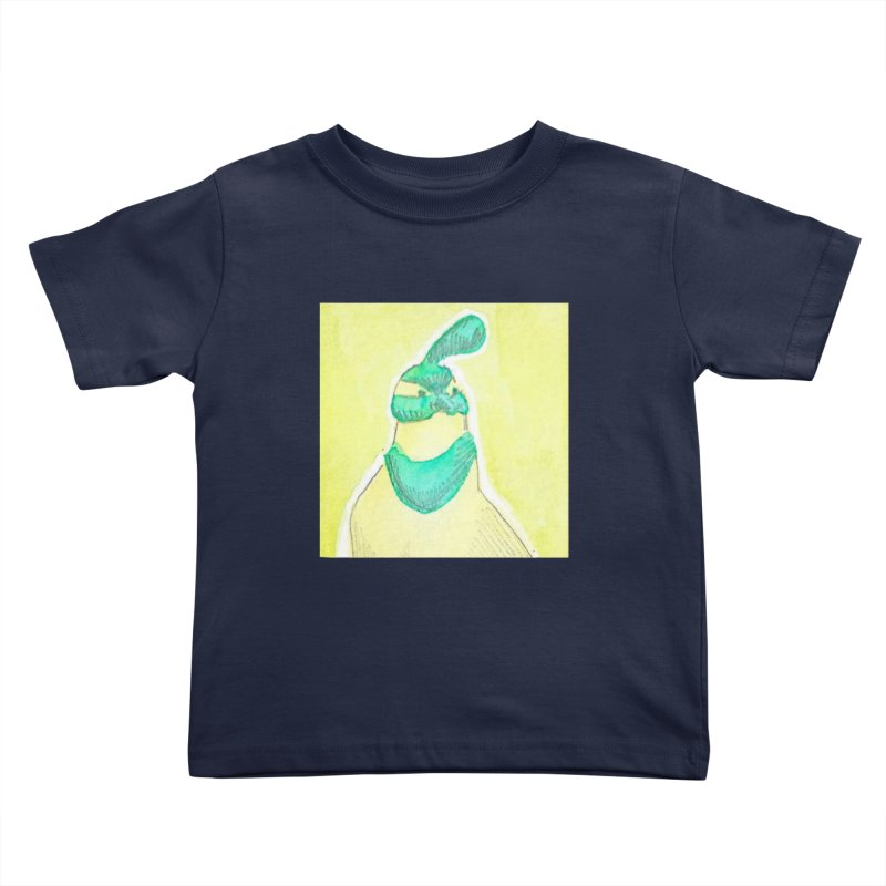 Quail in Blue, Green, Yellow Kids Toddler T-Shirt by The Wilderness Store