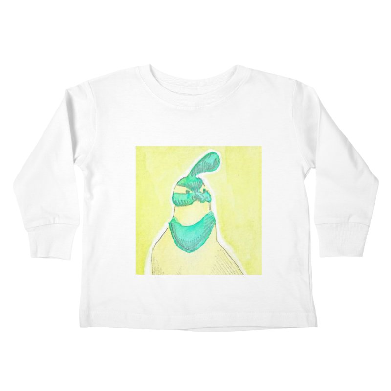 Quail in Blue, Green, Yellow Kids Toddler Longsleeve T-Shirt by The Wilderness Store