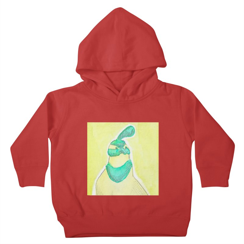 Quail in Blue, Green, Yellow Kids Toddler Pullover Hoody by The Wilderness Store