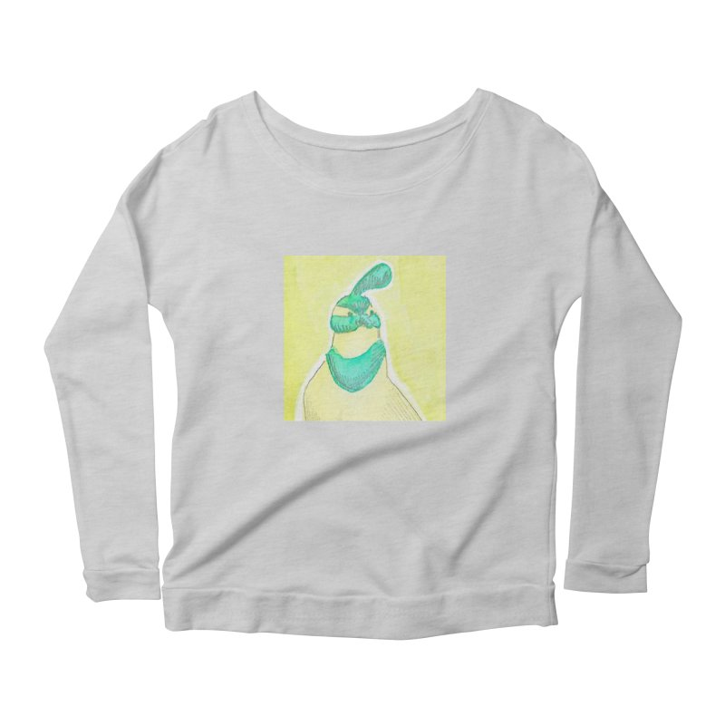 Quail in Blue, Green, Yellow Women's Scoop Neck Longsleeve T-Shirt by The Wilderness Store